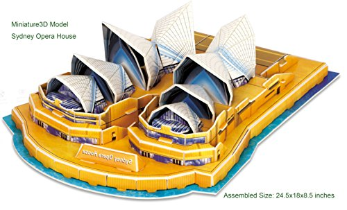 3D Puzzle - Sydney Opera House Miniature Architecture, 34 pieces