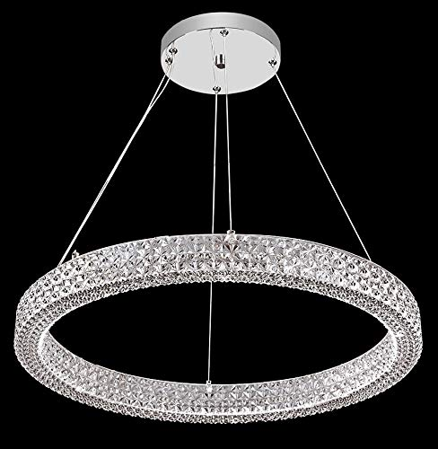 Acrylic Collection Chandelier in Silver Finish