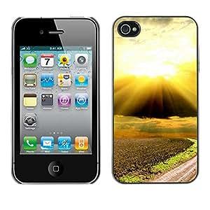 Paccase / SLIM PC / Aliminium Casa Carcasa Funda Case Cover - Nature Beautiful Forrest Green 88 - Apple Iphone 4 / 4S