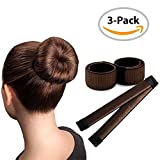 Brown Magic Bun Maker / 3 PACK / Perfect Hair Bun Making Tool / Donut Bun DIY Hair Styling / Hair Bun Shaper / Ballet Hair Bun
