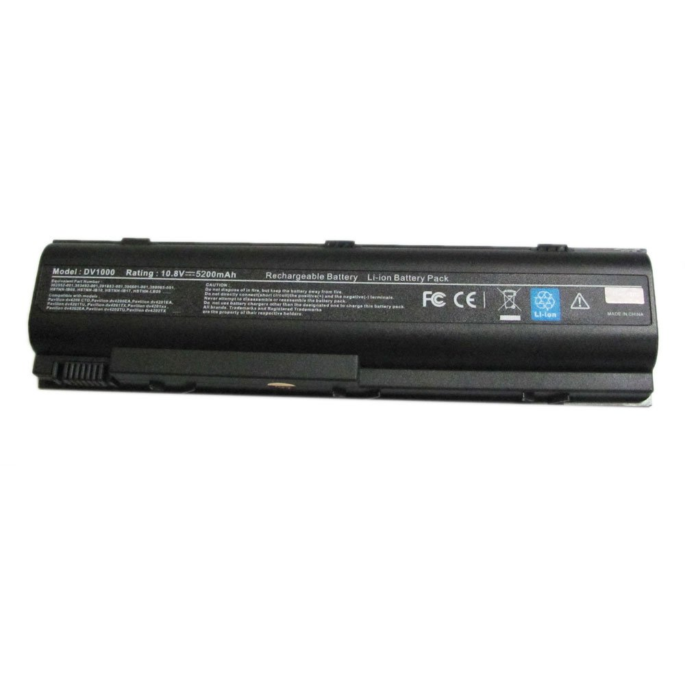 Amazon.com: Laptop Battery for Compaq Presario V2000 V4000 V5000(6-Cell  10.8V 5200mAh )Black: Computers & Accessories