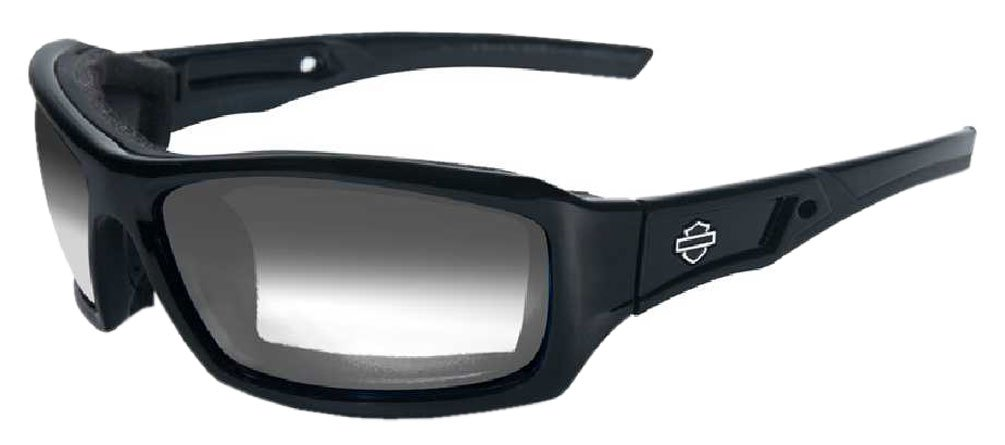 Harley-Davidson HD Echo LA Light Adjust Smoke Grey Lenses in a Gloss Black Frame Sunglasses by Wil by Harley-Davidson