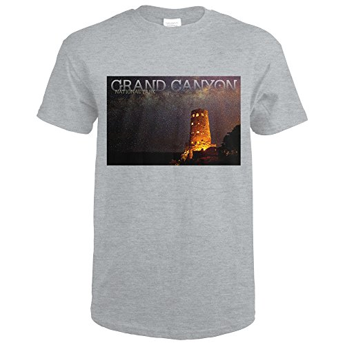 Grand Canyon National Park, Arizona - Watchtower (Sport Grey T-Shirt - Watch Arizona Sport