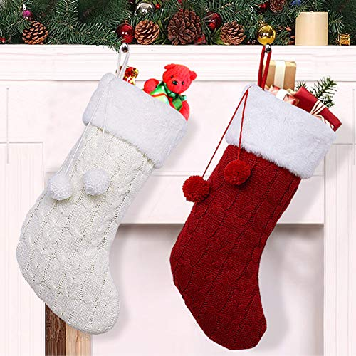OurWarm 2pcs Knit Christmas Stockings