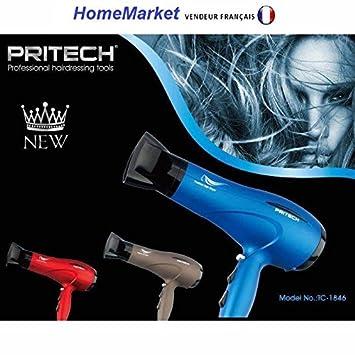 Profesional Secador Touche Air gastos 2 velocidades 3 posiciones calor 2000 W - Pritech: Amazon.es: Salud y cuidado personal