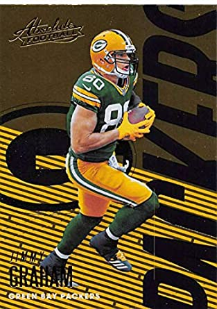 9c3ba29e9 2018 Absolute Football  38 Jimmy Graham Green Bay Packers Official NFL  Trading Card made by