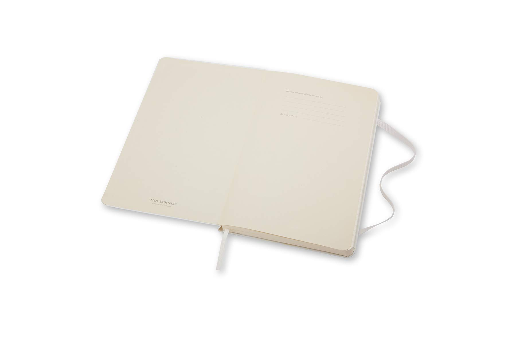 Moleskine Classic Notebook, Hard Cover, Large (5'' x 8.25'') Ruled/Lined, White by Moleskine (Image #3)