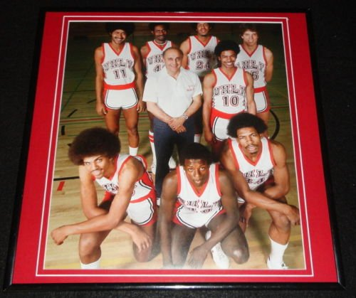 1976 UNLV Runnin Rebels Basketball Team J Tarkanian Framed 12x12 Poster Photo ()