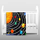 Blankets Ultra Soft Fuzzy Fleece 4 SIZES! from DiaNoche Designs by Nicola Joyner Njoy Art Home Decor Unique Designer Artistic Stylish Bedroom Ideas Couch or Throw Blankets - Solar System