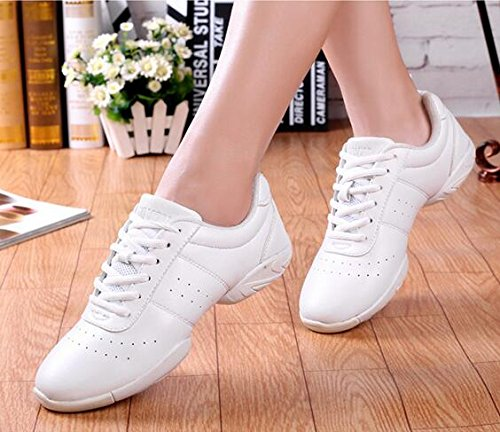 Sport Lace Training Black up b Dance Women's Shoes WUIWUIYU Cheerleading Girls' Gym EqFwBXCxRC