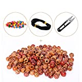 BEADNOVA Painted Wood Beads with Colorful Beads for Jewelry Making (17mm,150pcs)