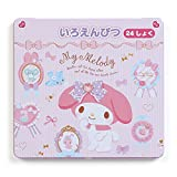 Sanrio My Melody colored pencils 24 color set rosette From Japan New