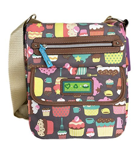 Lily Bloom Crossbody Bag, Eco friendly, Varsity Style, Padded Tablet Pocket