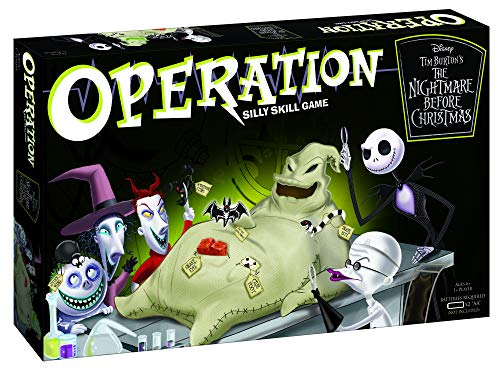 Disney Halloween Games Online (Operation Disney The Nightmare Before Christmas Board Game | Collectible Operation Game | Featuring Oogie Boogie & Nightmare Before Christmas)