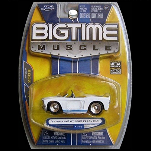 JADA Bigtime Muscle 1967 Ford Mustang Shelby GT-500 GT500 Pedal Car White (Gt500 Pedal)