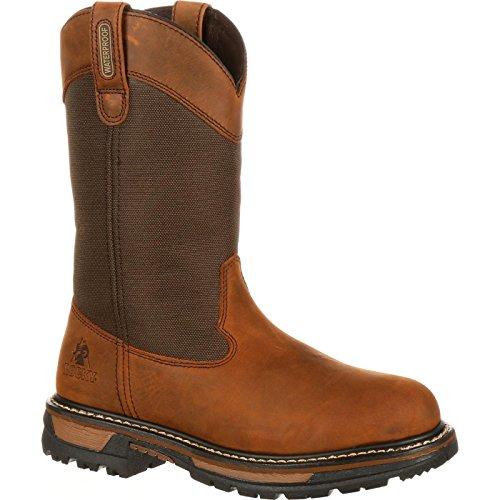 Mens Wellington Rocky (Rocky Ride 200G Insulated Waterproof Wellington Boot Brown)