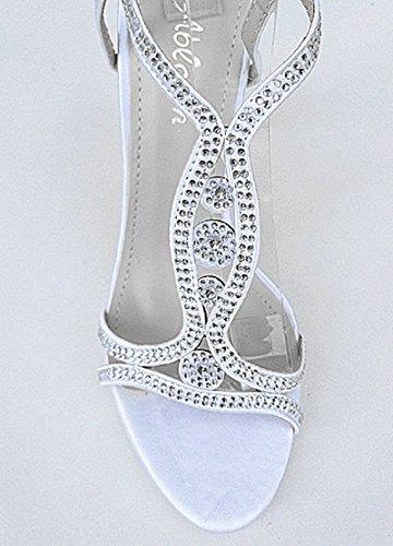 Mariage fashionfolie Talon Aiguille Femme Bout Ouvert Satin Escarpins Blanc 3714 Sandale Strass AAxqE1rw