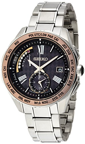 Seiko brightz 45th anniversary limited model comFor TeX titanium SAGA188 SEIKO BRIGHTZ men's wristwatch radio solar world time dark brown
