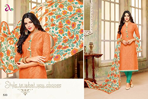 DAIRY Milk VOL-20 16 Pcs Chanderi Cotton Fine Embroidery Salwar Kameez by PANCHAL Creation -03 by DAIRY Milk VOL-20 (Image #6)