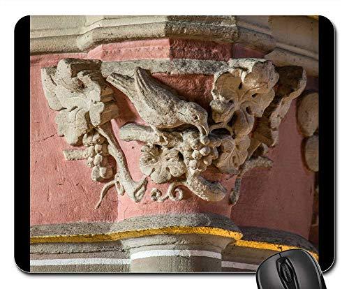 Mouse Pads - Pillar Capital Bird Grapes Church Ornament ()
