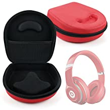 DURAGADGET Hard EVA Storage Case For Headphones / Earbuds, With Compartment (Red) For Beats by Dr. Dre: Solo HD, Solo 2, Solo 3, Pro, Executive, Mixr, Studio, Studio 2.0, SOLO2, Studio Wireless, Color Mixer, Solo & EP