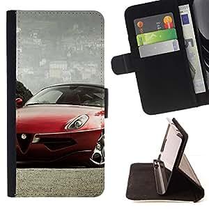 Momo Phone Case / Flip Funda de Cuero Case Cover - Alfa coche;;;;;;;; - Samsung Galaxy Note 4 IV