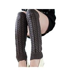 Knit Winter Warm Leg Warmers Long Socks Boot Cuffs Topper Legging Pads Knee Brace Pads Knee Warmers Sleeve for Women Lady Girls Best Xmas Gift
