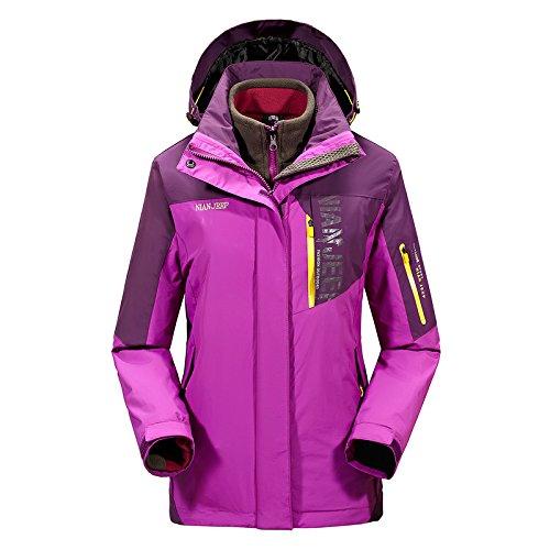 Chickle Women's Outdoor Windbreaker Waterproof Winter Hiking Jacket Purple by Chickle