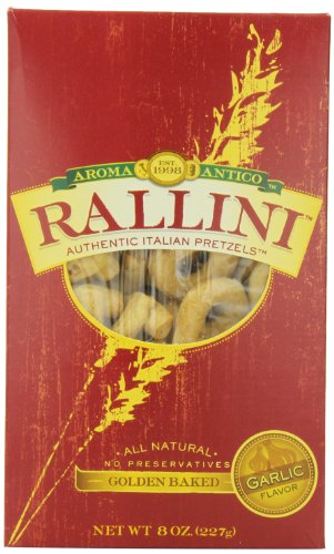 California Pretzels (Aroma Antico Rallini California Garlic Flavor, Italian Pretzels, 8-Ounces Boxes (Pack of 6))