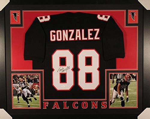 Tony Gonzalez Autographed Jersey - Framed XL Black 17680 - JSA Certified - Autographed NFL Jerseys ()