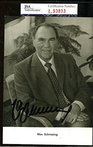 a8fb3cbd98c Max Schmeling Signed Photo - 4x6 - JSA Certified - Autographed Boxing  Photos at Amazon s Sports Collectibles Store