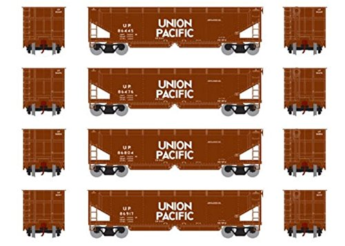 Athearn HO RTR 40' Offset Ballast Hopper w Load UP #2 (4) ()