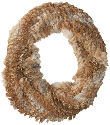 RUDSAK Women's Nantes Fur Eternity Scarf, Natural/Natural, One Size by RUDSAK