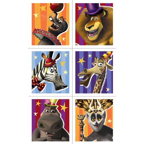 Madagascar 3 Sticker Sheets (4) Party Accessory by Hallmark