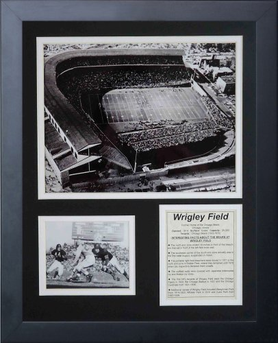 Wrigley Field Framed Pictures - Legends Never Die Chicago Bears Wrigley Field Framed Photo Collage, 11x14-Inch