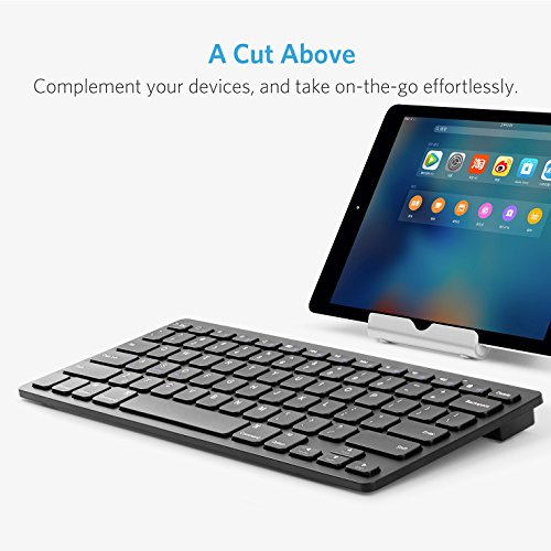 Anker Bluetooth Ultra-Slim Keyboard for iPad Air 2 / Air, iPad mini 3 / mini 2 / mini, iPad 4 / 3 / 2, Galaxy Tabs and Other Mobile Devices (Black) by Anker (Image #4)