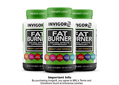 INVIGOR8 Fat Burner and Natural Appetite Suppressant – Healthy Weight Loss Formula and Thermogenic with Green Tea Leaf Extract (3-Pack 90 Day Supply)… by BRL Sports Nutrition (Image #7)