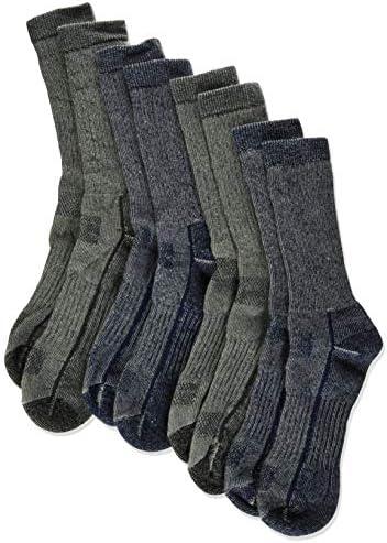 Merino Wool Blend 6 Pairs Outdoor Trail Socks Size M 7-9.5 Kirkland Signature