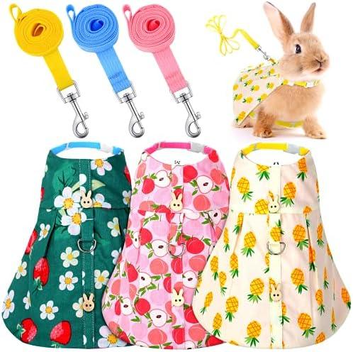 3 Piece Cute Rabbit Leash and Harness Set Bunny...