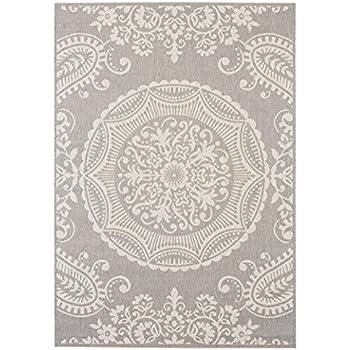 Balta Rugs 30413639.160225.1 Highland Light Grey Indoor/Outdoor Area Rug, 5' x 8'