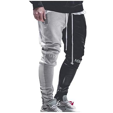 Pantalones de chándal de Bolsillo de Hip Hop con Costuras Casuales ...