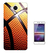 000634 - Basketball Pattern Look Design Huawei Y6 (2017) Fashion Trend CASE Gel Rubber Silicone All Edges Protection Case Cover