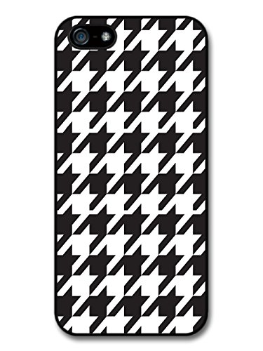 Hound's Tooth Black And White Cool Hipster Style Design coque pour iPhone 5 5S