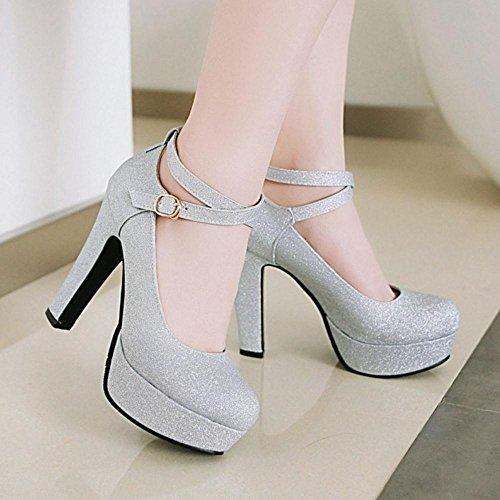 Cheville Coolcept Chaussures Escarpins Talons 56 à Argent Bride Femmes Yqr4fxY
