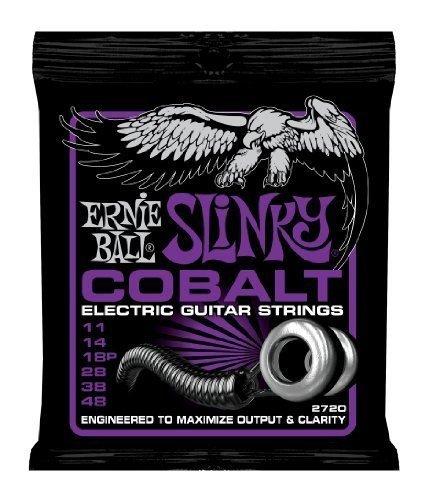 Guitar Strings Power Slinky - Ernie Ball 2720 Power Slinky Cobalt Electric Guitar Strings 11-48 2 Pack