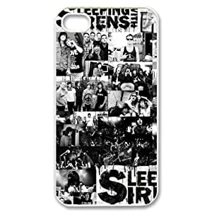 Music & Band Series Protective Snap-on Hard Back Case Cover for iPhone 4 & 4S - 1 Pack - Sleeping with Sirens - 17