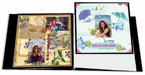 6 Pack MEMORY BOOK REFILLS 8.5x11 BLK Papercraft, Scrapbooking (Source Book) PIONEER