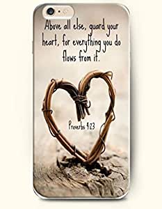 Case For Iphone 5/5S Cover Case,OOFIT Case For Iphone 5/5S Cover Hard Case **NEW** Case with the Design of Above all else,guard your heart, for everything you do flows from it. Proverbs 4:Case For Iphone 5/5S Cover (2014) Verizon, AT&T Sprint, T-mobile