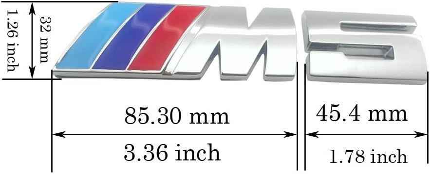 Careflex, emblema 3D M5 plateado, adhesivo para BMW coche ...