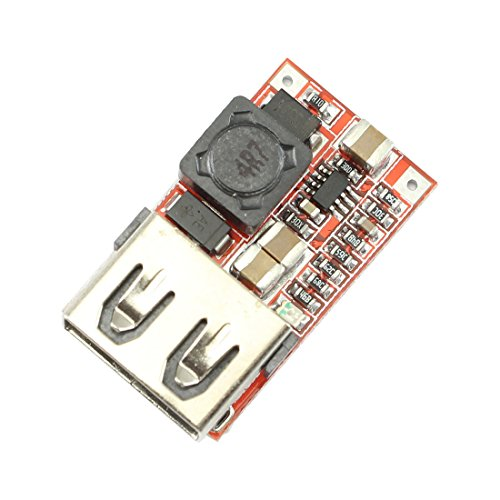 5v 12vdc Output (Ailavi DC-DC Buck Converter 6V-24V 12V/24V To 5V 3A USB Output Module)